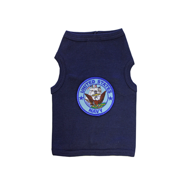 U.S. Navy Crest Dog Tank Top - Navy Blue