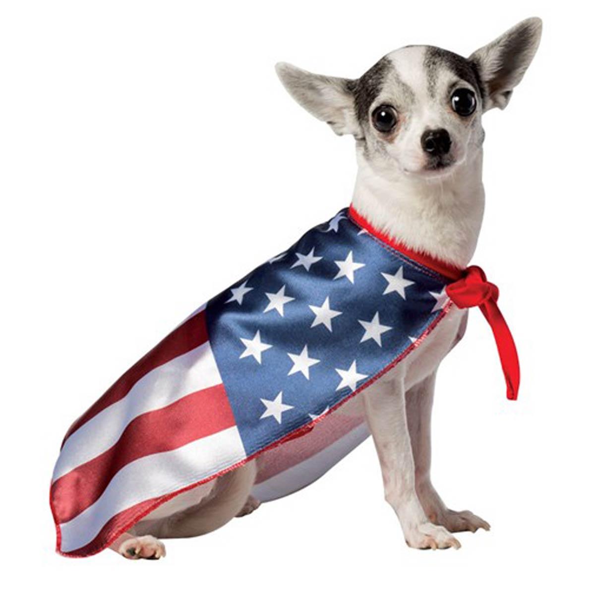 USA Flag Cape Dog Costume by Rasta Imposta