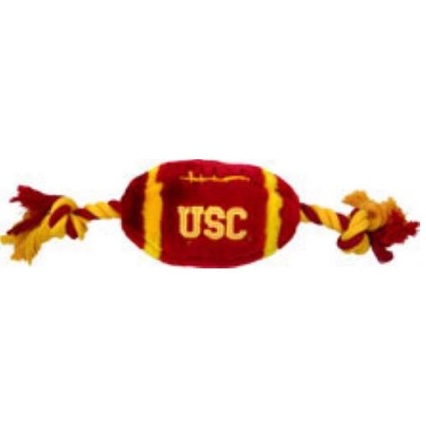 USC Trojans Plush Football Dog Toy