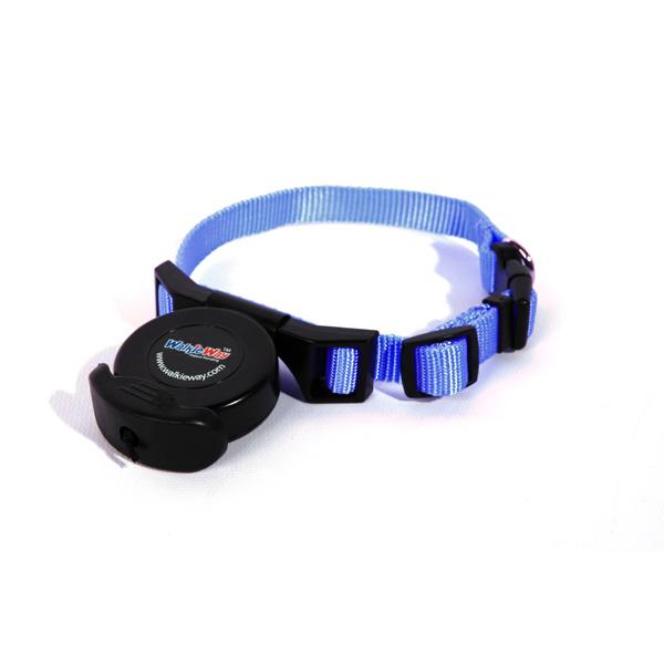 WalkieWay All in One Safety Dog Leash Collar - Royal Blue