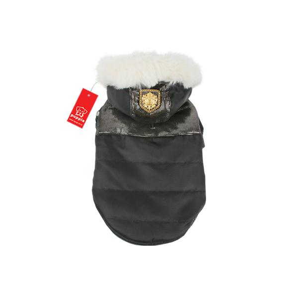 Warm Snow Bunny Dog Coat by Puppia - Black
