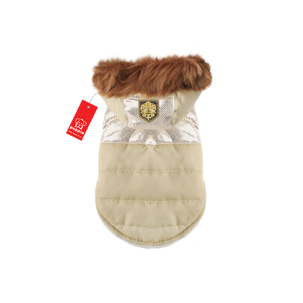 Warm Snow Bunny Dog Coat by Puppia - Gold