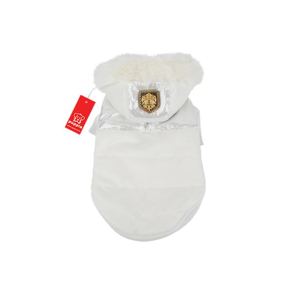 Warm Snow Bunny Dog Coat by Puppia - Silver