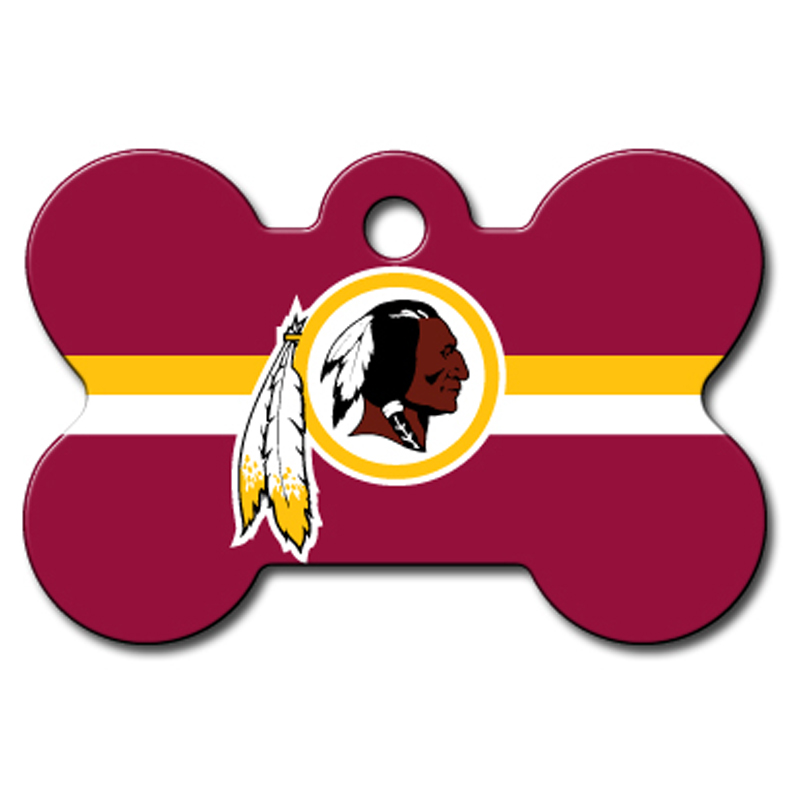 Washington Redskins Engravable Pet I.D. Tag - Bone