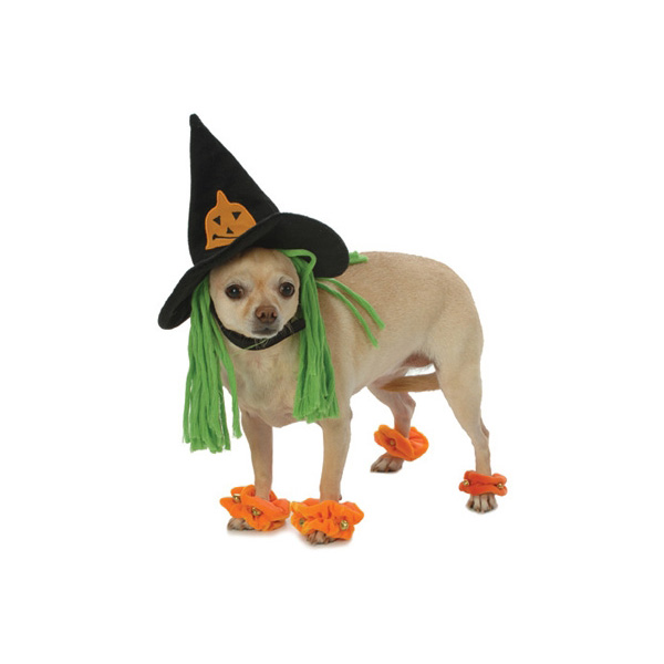 Wicked Witch Dog Costume with Leg Cuffs