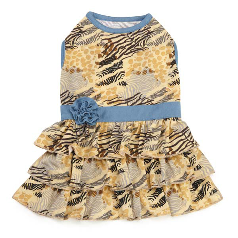 Wild Savannah Tiered Dog Dress