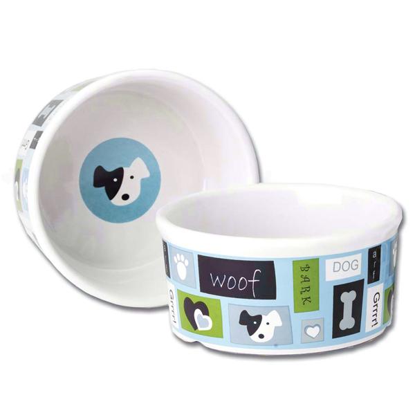 Woof Flair Dog Bowl - Blue
