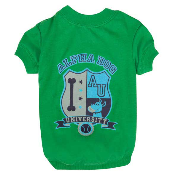Zack & Zoey Alpha Dog College Dog T-Shirt - Green