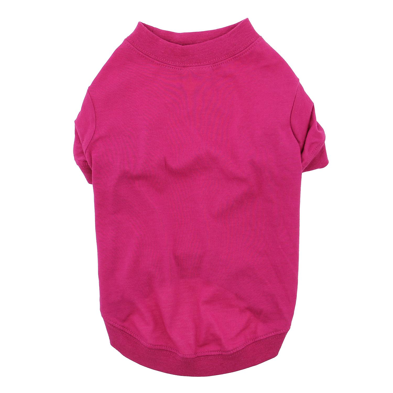 Zack & Zoey Basic Dog T-Shirt - Raspberry Sorbet