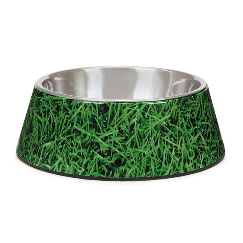 Elements Melamine Dog Bowl - Grass
