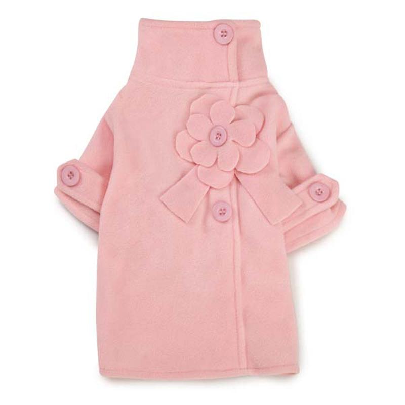 Fleece Flower Dog Jacket - Pink