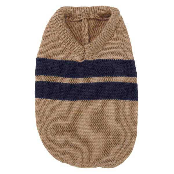 Zack & Zoey Ivy League Dog Sweater - Camel