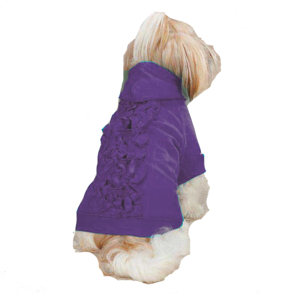 Zack & Zoey Lucy Ruffle Dog Hoodie - Ultra Violet