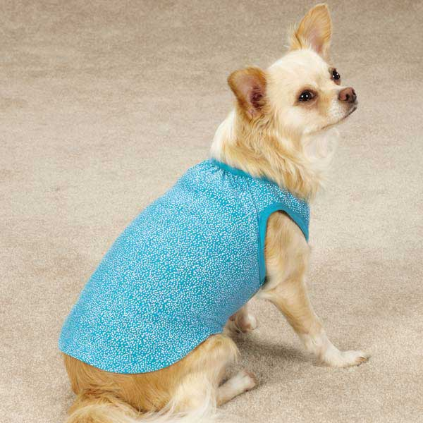 Zack & Zoey Polka Dot Dog Tank - Bluebird