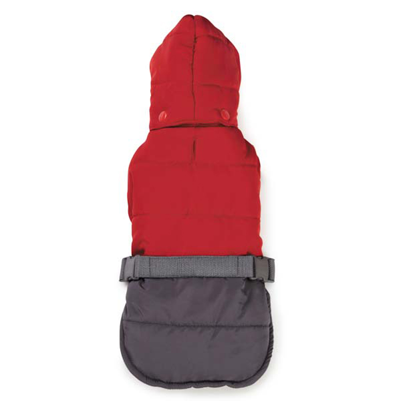 Zack and Zoey Trek Puffy Dog Jacket - True Red