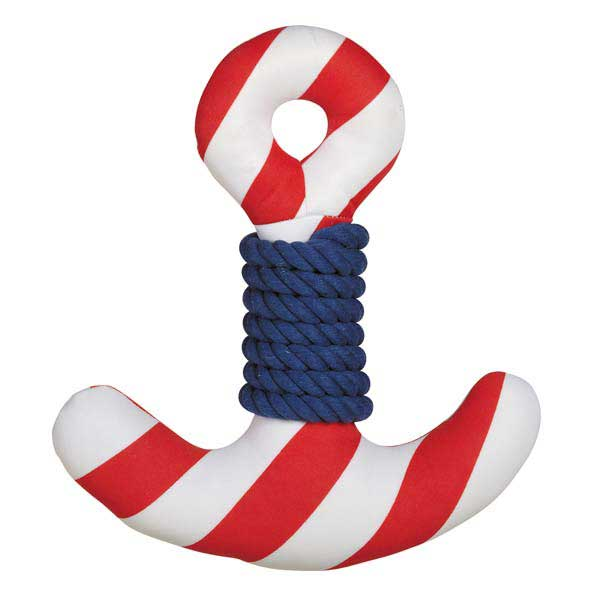 Zanies All Paws on Deck Dog Toy - Anchor