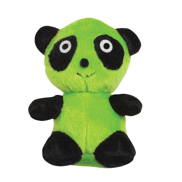 Zanies Band O' Pandas Dog Toy - Green