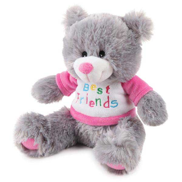 Zanies BFF Bear Dog Toy - Pink