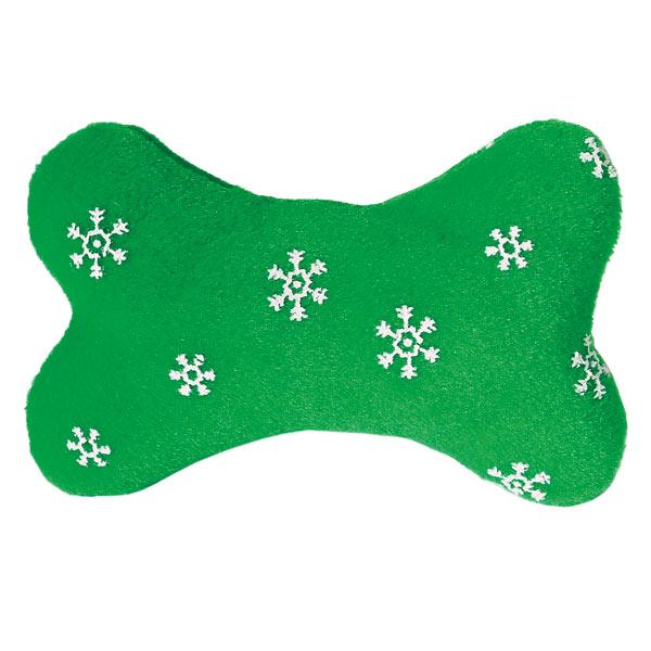 Zanies Blizzard Bones Dog Toy - Green