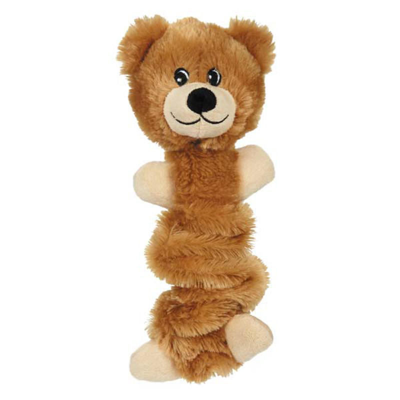 Zanies Bungee Bear Dog Toy - Light Brown