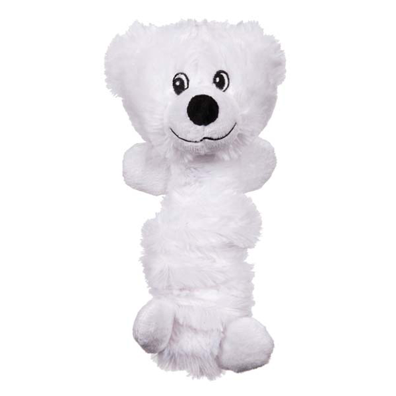 Zanies Bungee Bear Dog Toy - White