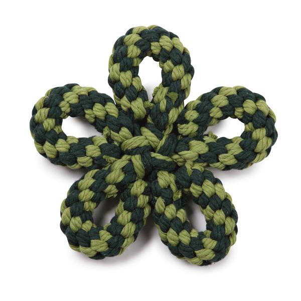 Zanies Carolina Flower Rope Dog Toy - Green