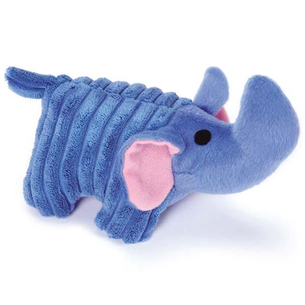Zanies Corduroy Chum Dog Toy - Blue Elephant