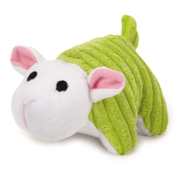 Zanies Corduroy Chum Dog Toy - Green Lamb