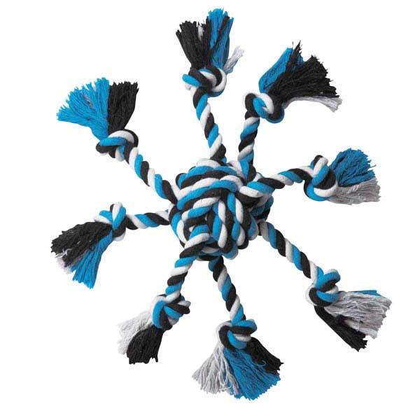 Zanies Crazy Eight Rope Dog Toy - Blue