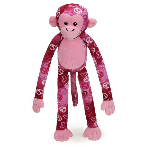Zanies Cuddle Monkeys Dog Toy - Peace