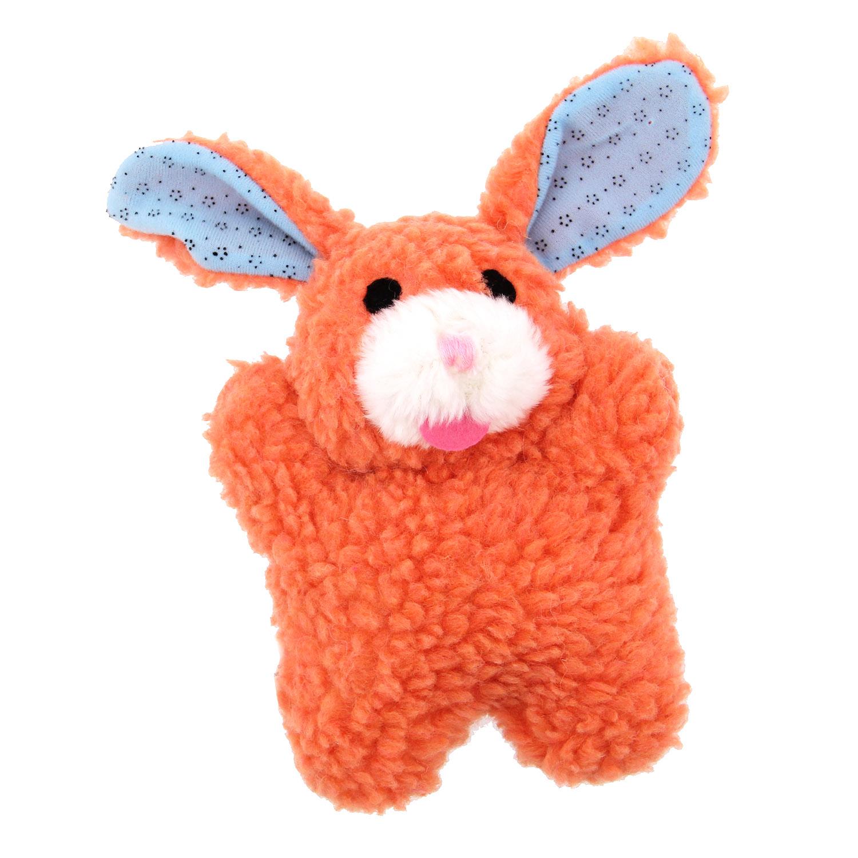 Zanies Cuddly Berber Babies - Orange Bunny