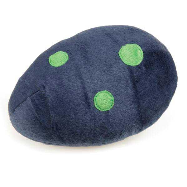 Zanies Dino Egg Dog Toy - Navy Blue