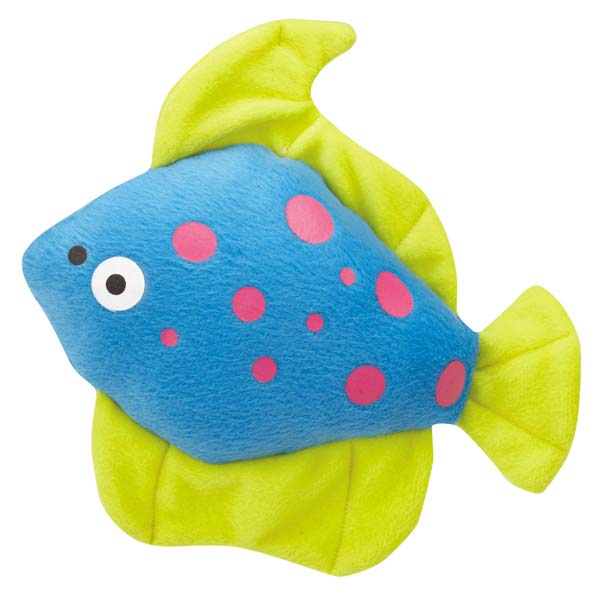 Zanies Funky Flounder Dog Toy - Blue