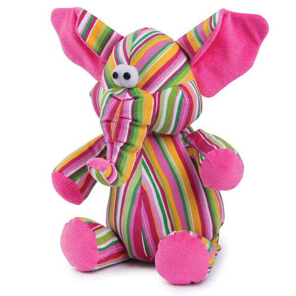 Zanies Funky Trunks Dog Toy - Pink