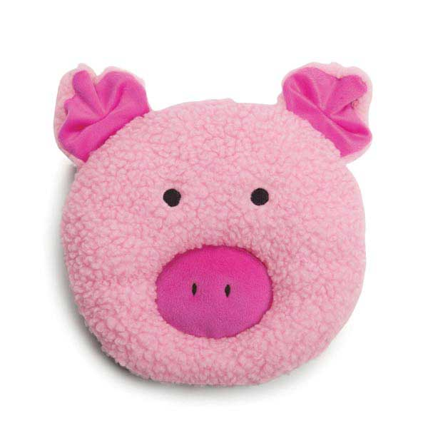 Zanies Fuzzy Face Dog Toy - Pig