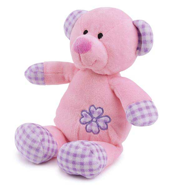 Zanies Gingham Tot Dog Toy - Bear