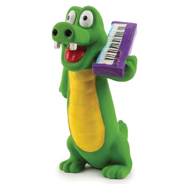 Zanies Groovin Gator Latex Dog Toy - Duke