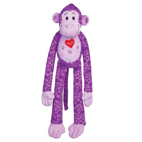 Zanies Groovy Gorilla Dog Toy - Purple
