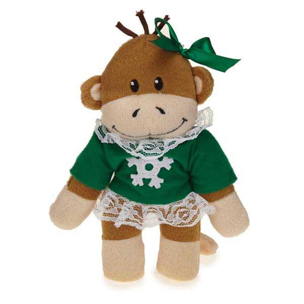 Zanies Holiday Monkey Business Friends Dog Toy - Tiff
