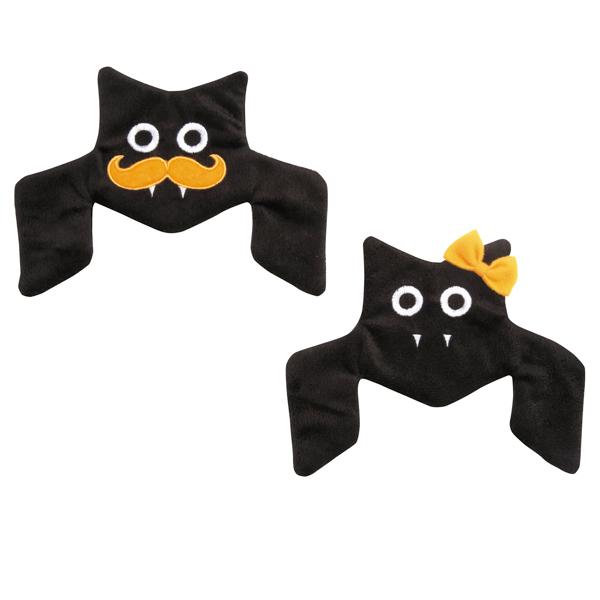 Zanies Houndstooth Crinkle Bat Dog Toy