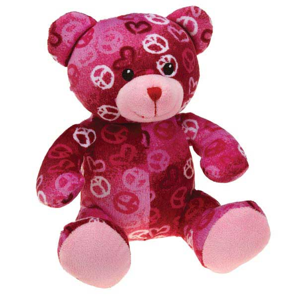 Zanies Kiss N' Cuddle Bears Dog Toy - Peace