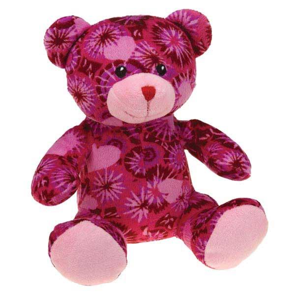 Zanies Kiss N' Cuddle Bears Dog Toy - Tie-dye