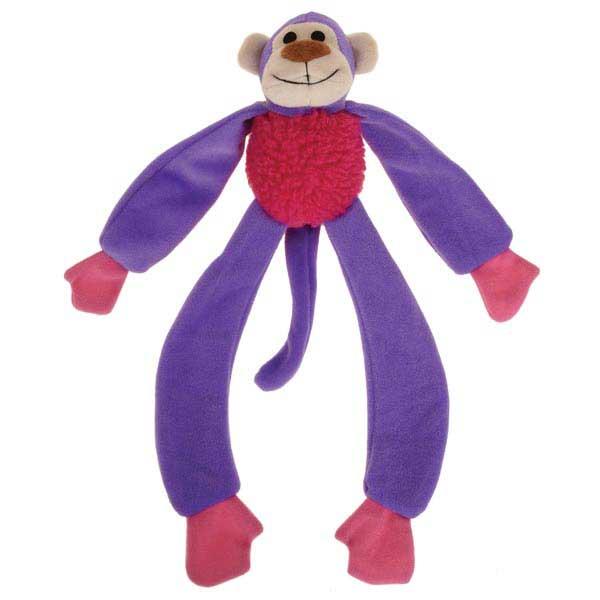Zanies Monkey Mayhem Dog Toy - Purple