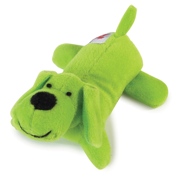 Zanies Neon Lil' Yelpers Dog Toy - Glowing Green