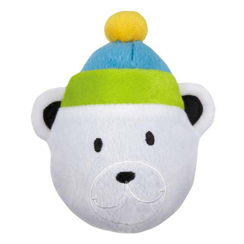 Zanies North Pole Pals Squeaker Ball Dog Toy - Bear