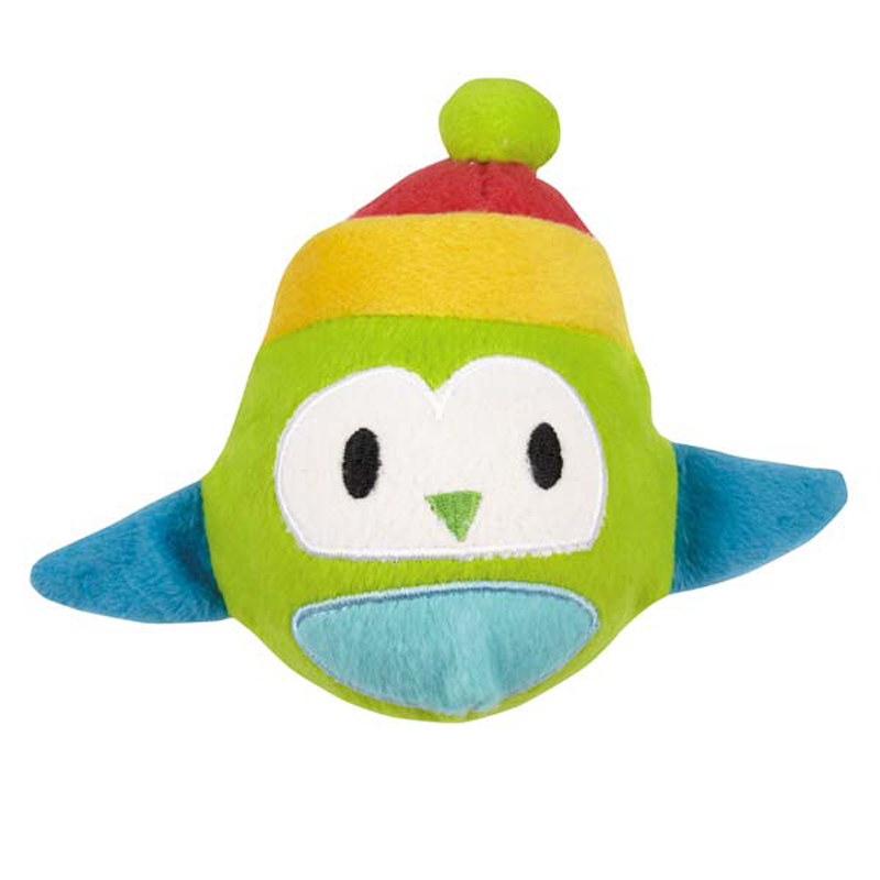 Zanies North Pole Pals Squeaker Ball Dog Toy - Owl