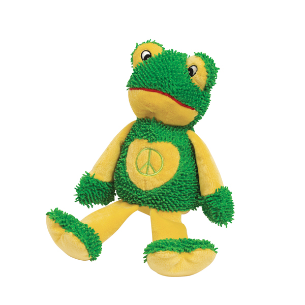Zanies Peace Party Dog Toy - Frog