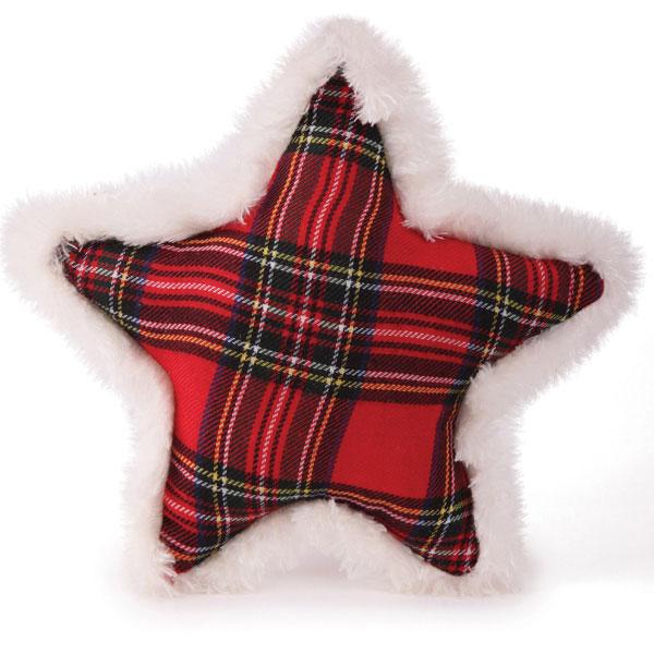 Zanies Snow Cap Tartan Dog Toy - Star