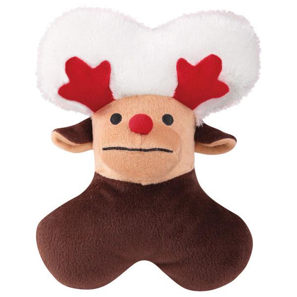 Zanies Snowy Softies Dog Toy - Reindeer