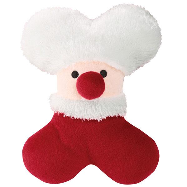 Zanies Snowy Softies Dog Toy - Santa